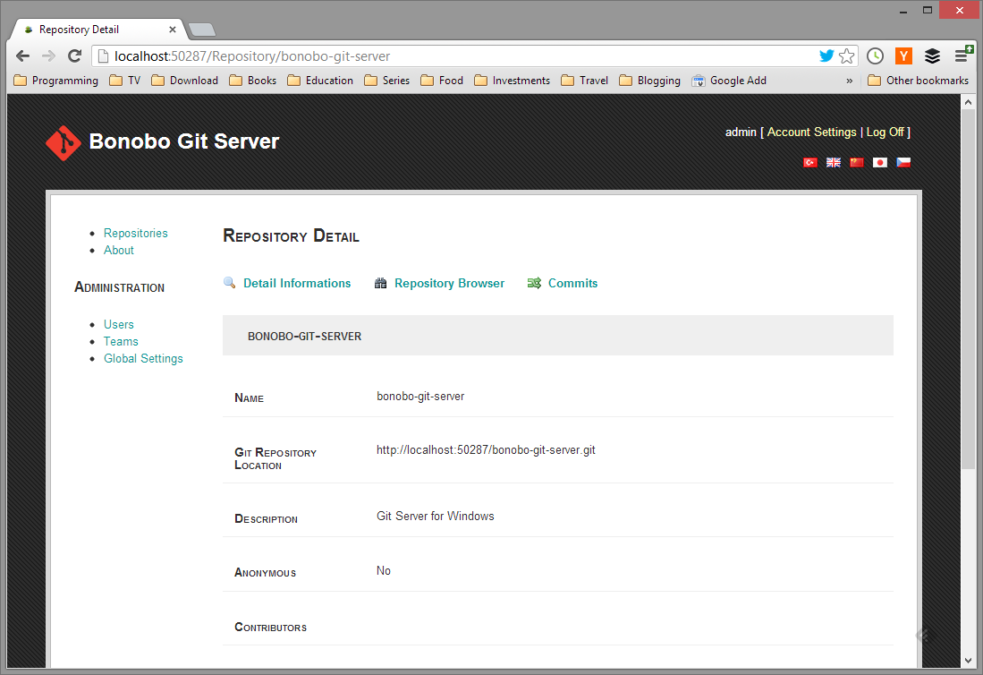 Remember Username and Password with Bonobo Git Server