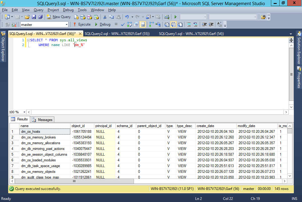 Line numbers added to SSMS.